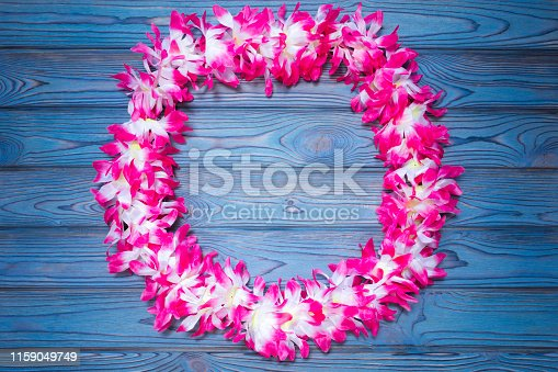 istock Hawaiian wreath of flowers. national holiday decoration for guests and tourists. 1159049749