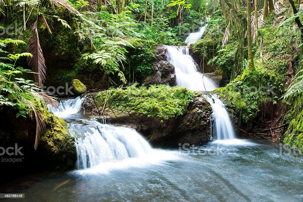 Hawaiin waterfall stock photo