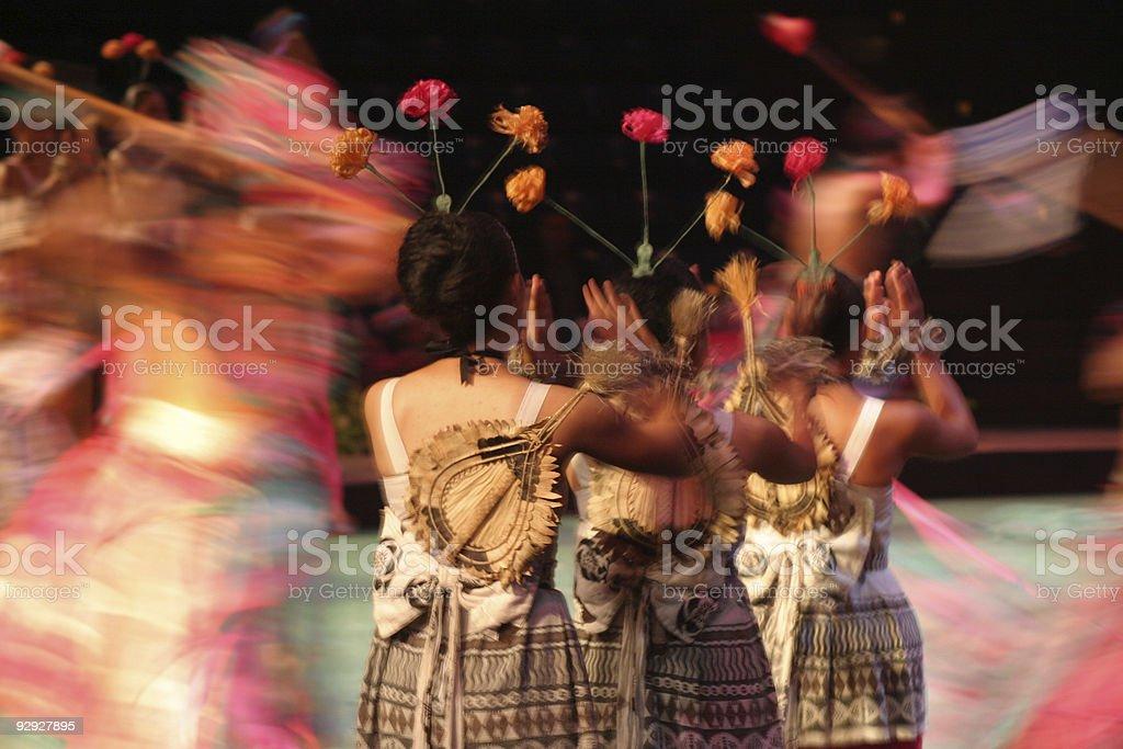 Hawain Dancers stock photo