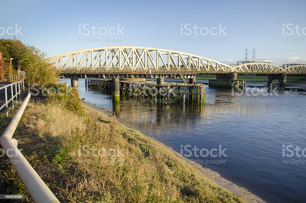 Hawarden Bridge Near Shotton in North Wales royalty-free stock photo