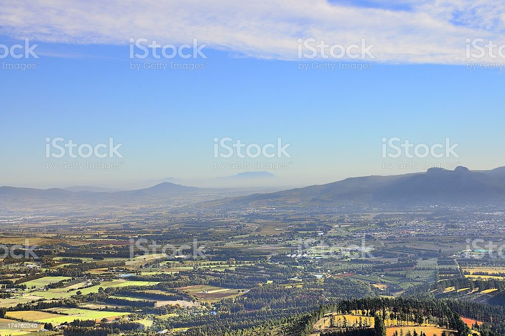 Hawequas Mountains View Of Table Mountain stock photo