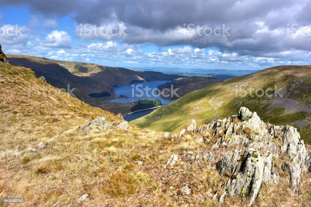 Haweswater in the Mardale valley stock photo