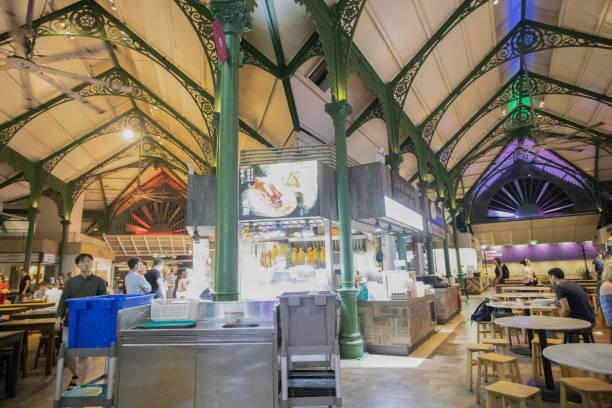Hawker Food Hall Zentrum Von Singapur – Foto
