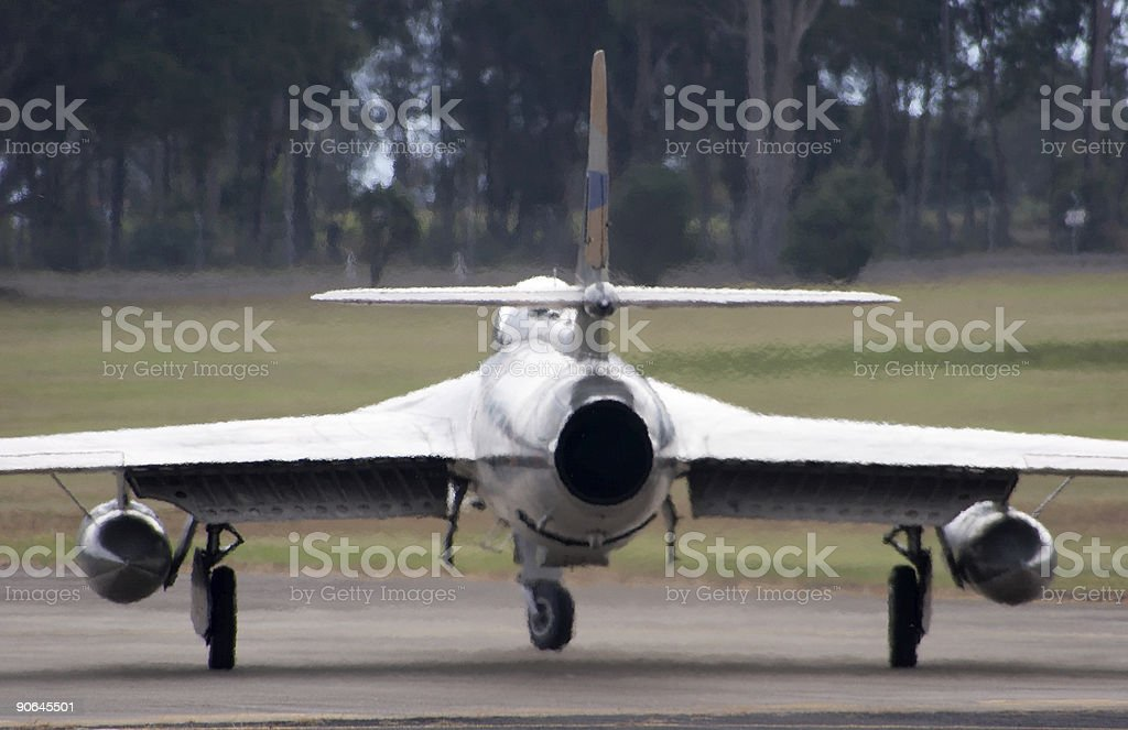 Hawker Hunter royalty-free stock photo