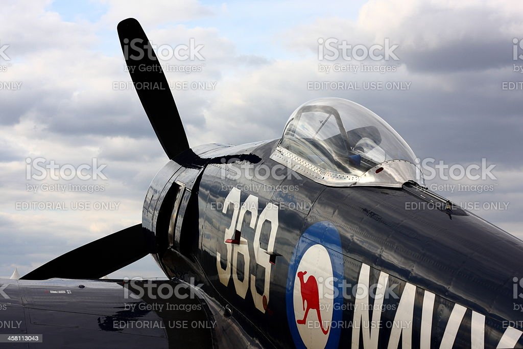 Hawker Sea Fury royalty-free stock photo