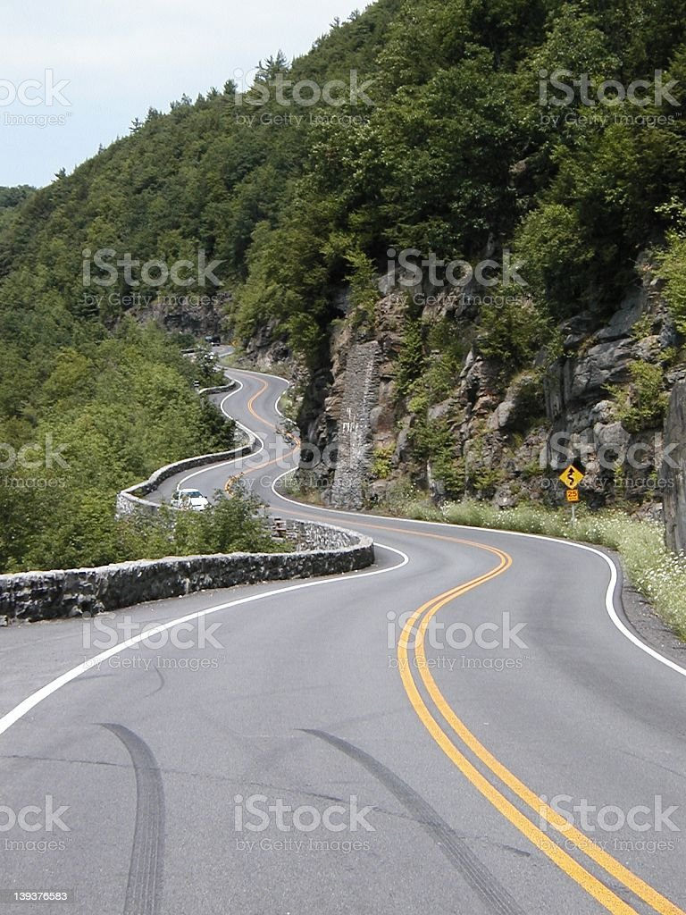 Hawks Nest curves royalty-free stock photo