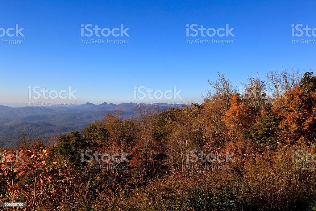 Hawksbill Mountain stock photo