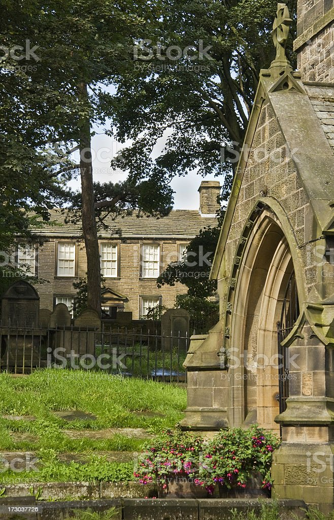 Haworth Parsonage and Church royalty-free stock photo