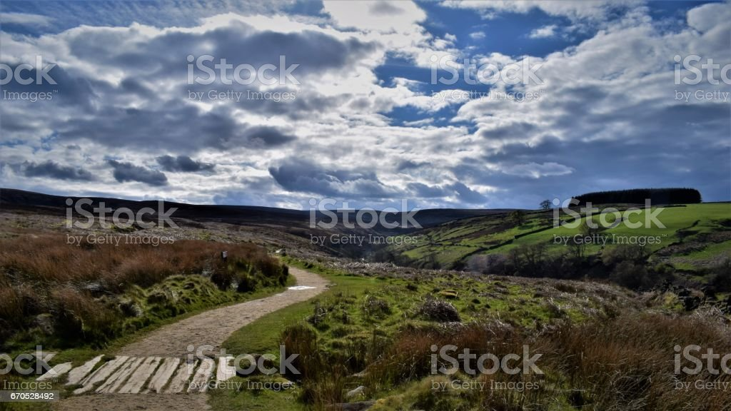 Haworth walk stock photo
