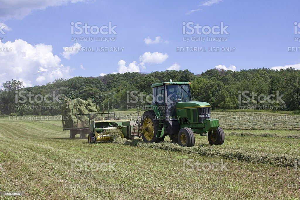 Hay Bailing stock photo