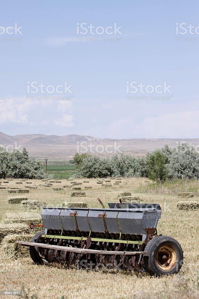 Hay baler farming equipment royalty-free stock photo