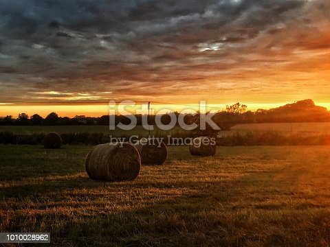 510149992 istock photo Hay bales in the sunset 1010028962