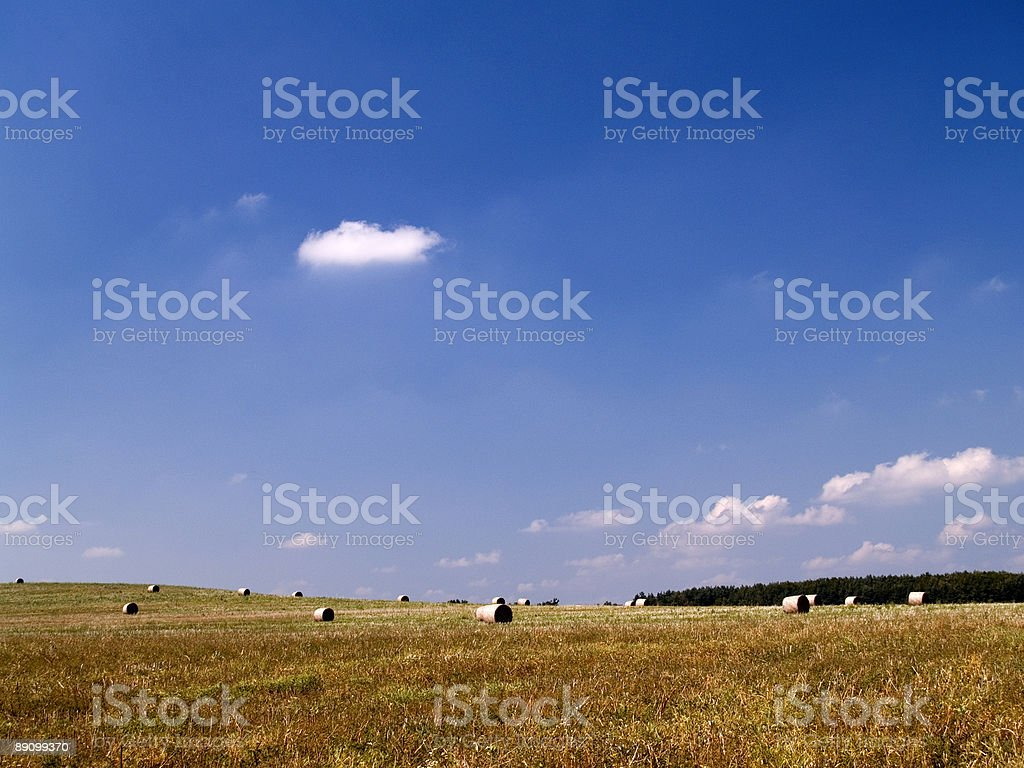 Hay bales on a clear summers day. royalty-free stock photo
