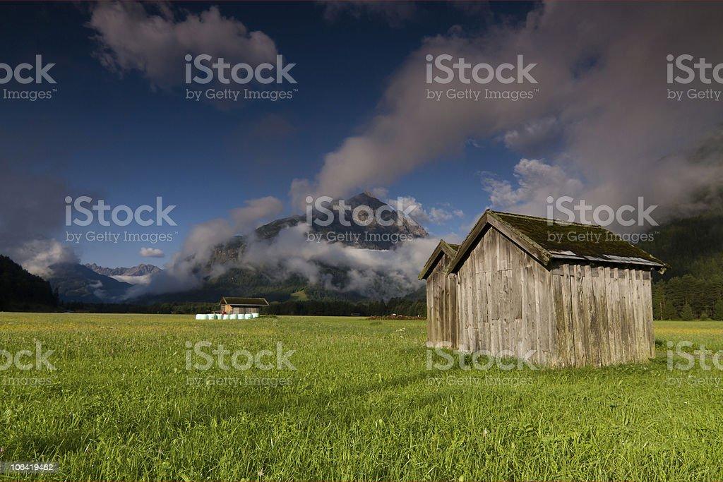 hay barn II stock photo