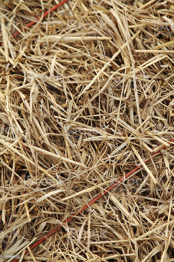 Hay bundle close as background royalty-free stock photo