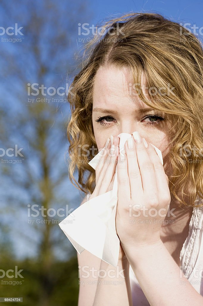 hay fever allergy royalty-free stock photo