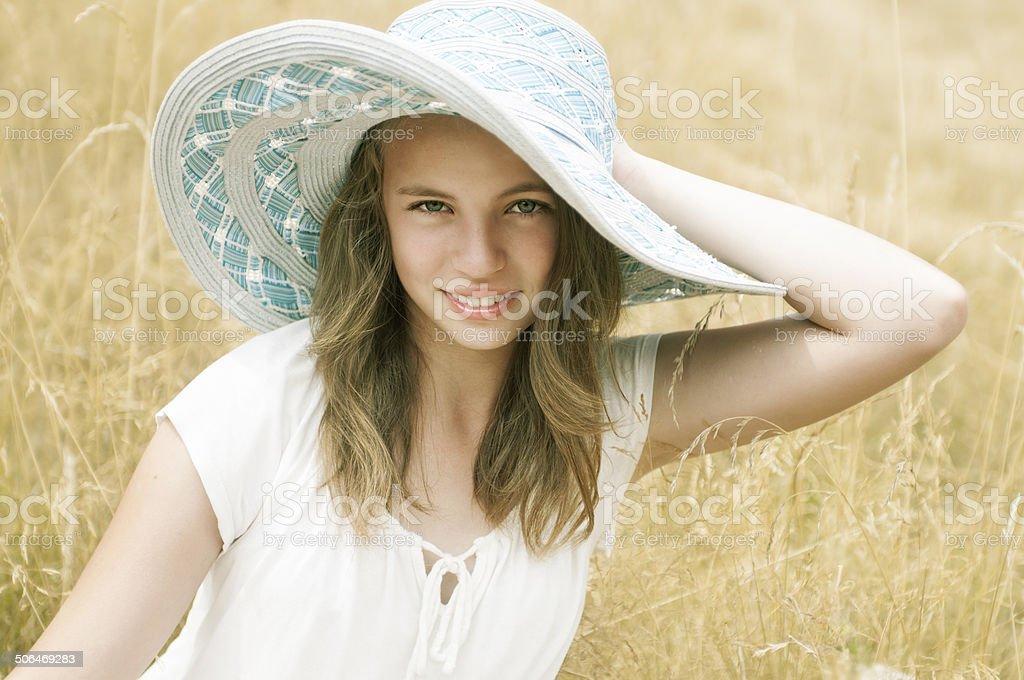 Hay Field royalty-free stock photo