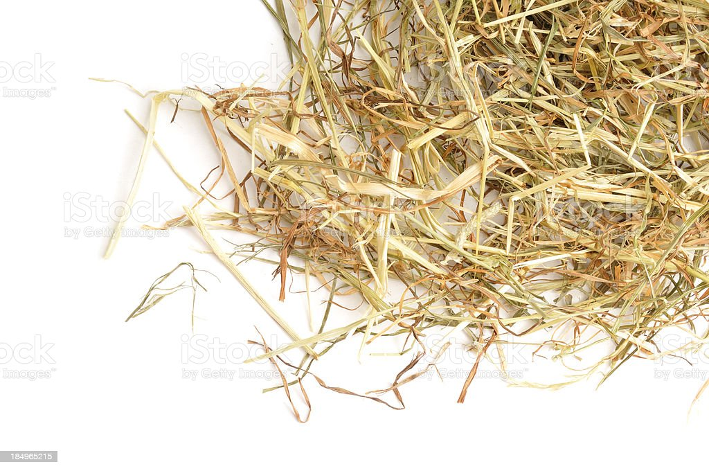 Hay from above stock photo
