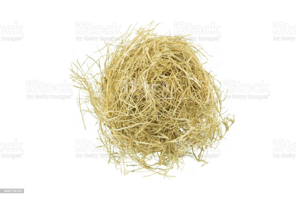 hay isolated on a white background stock photo