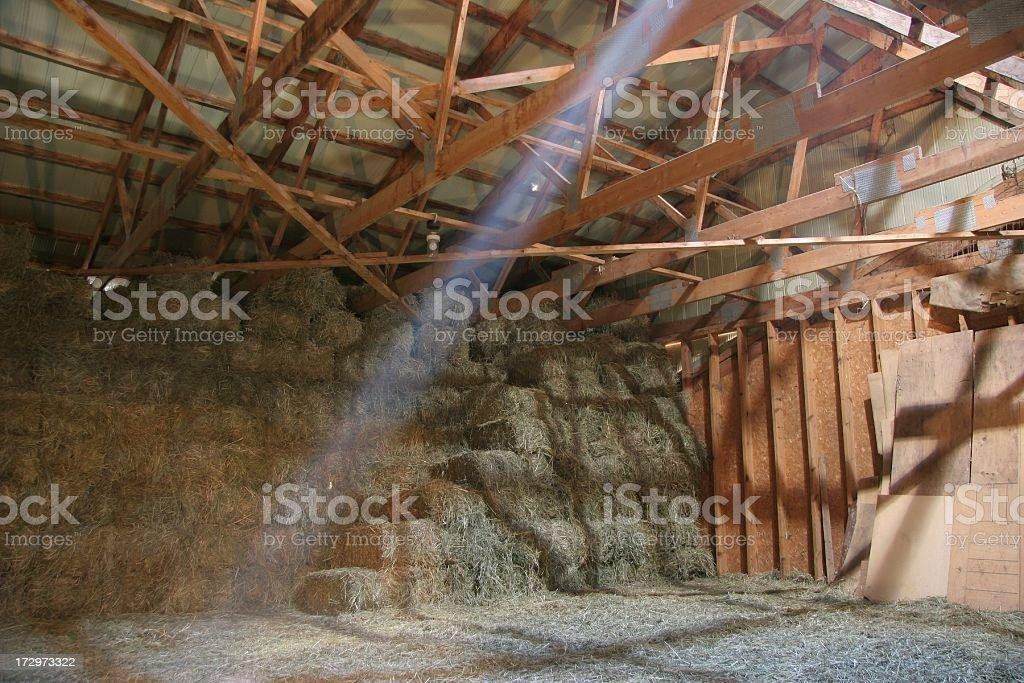 Hay Loft stock photo