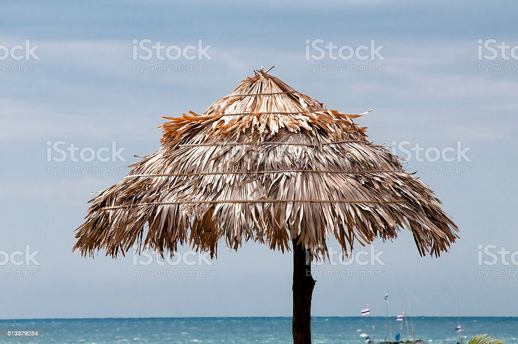 Hay , roofing,Thailand stock photo
