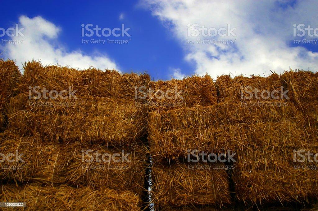 Hay Stacks stock photo