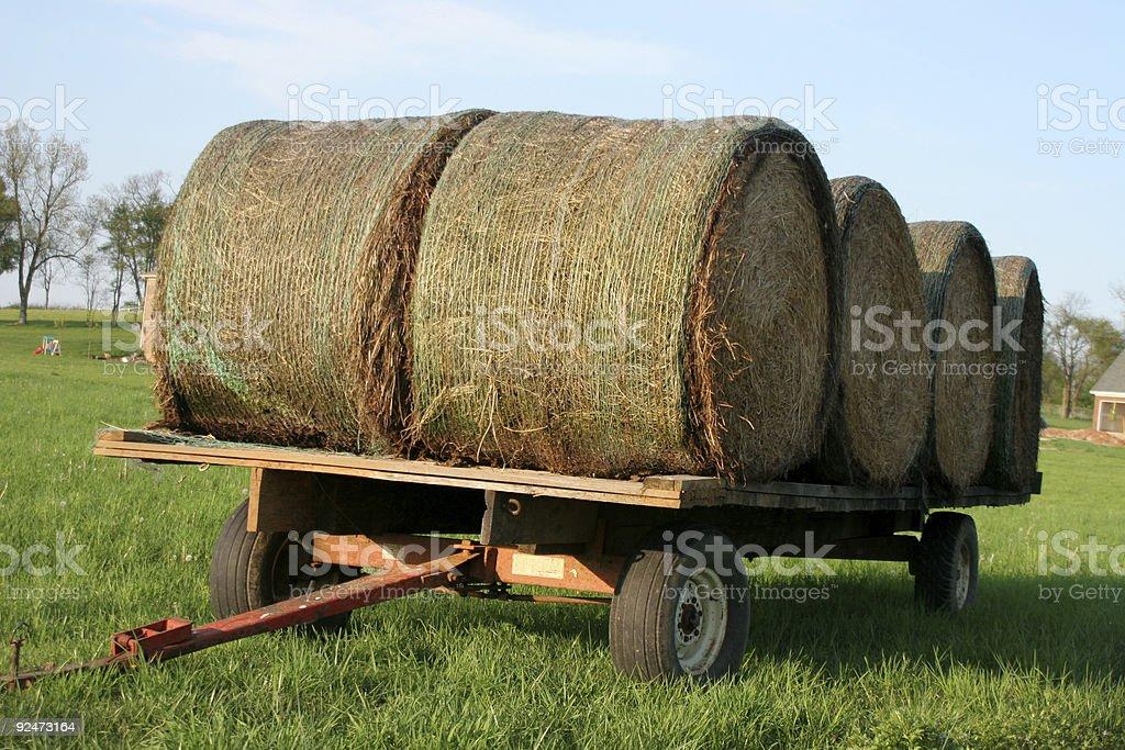 Hay Wagon royalty-free stock photo