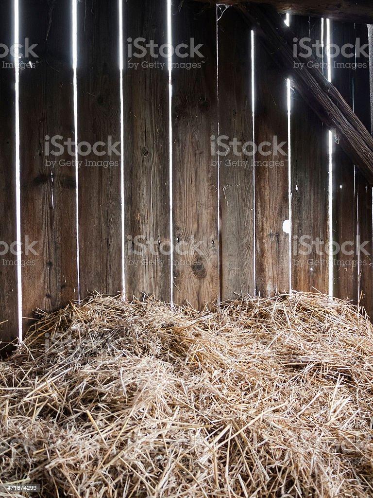 Hay-barn stock photo
