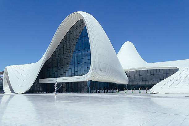 Haydar Aliyev Cultural Centre stock photo