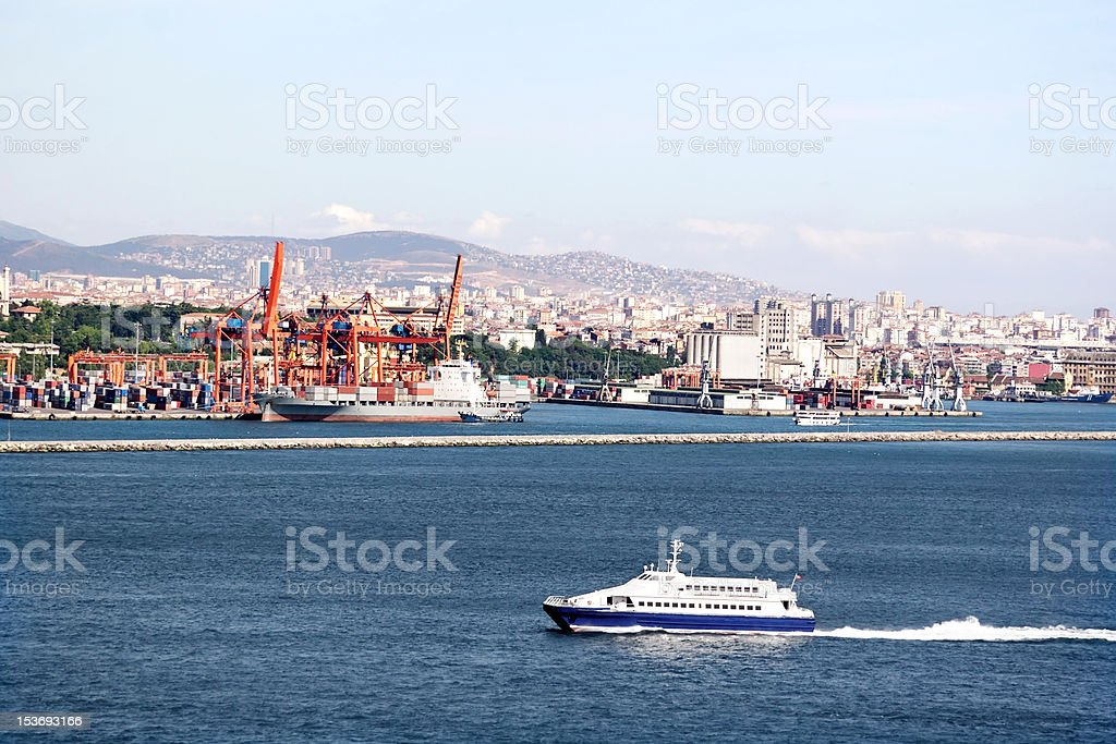 Haydarpasa Harbor, Istanbul stock photo
