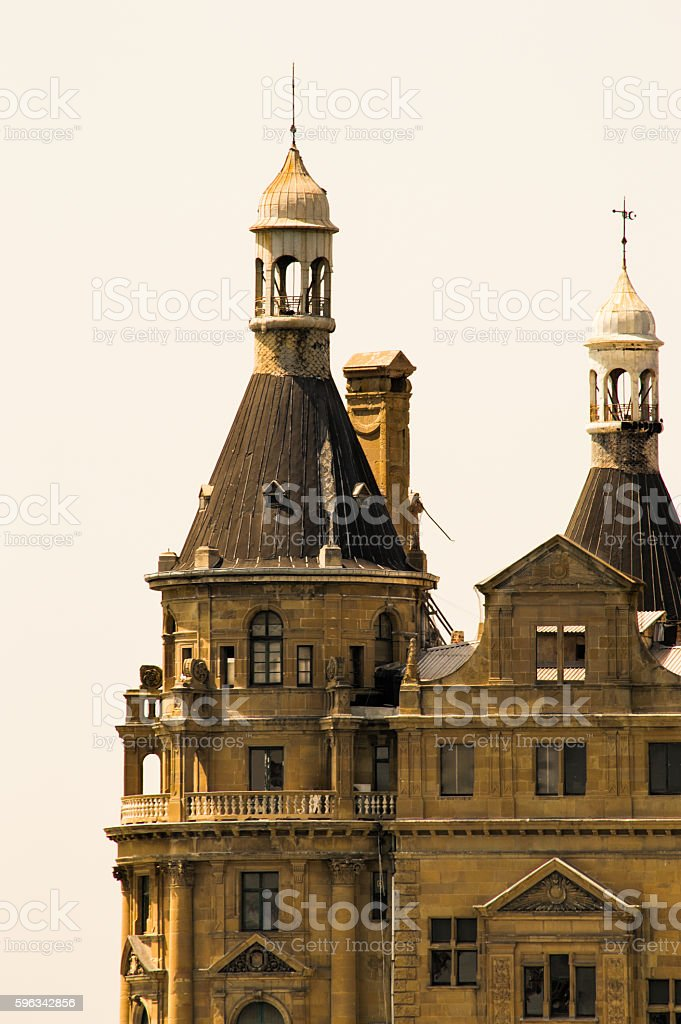 Haydarpasa Train Station in Istanbul City royalty-free stock photo