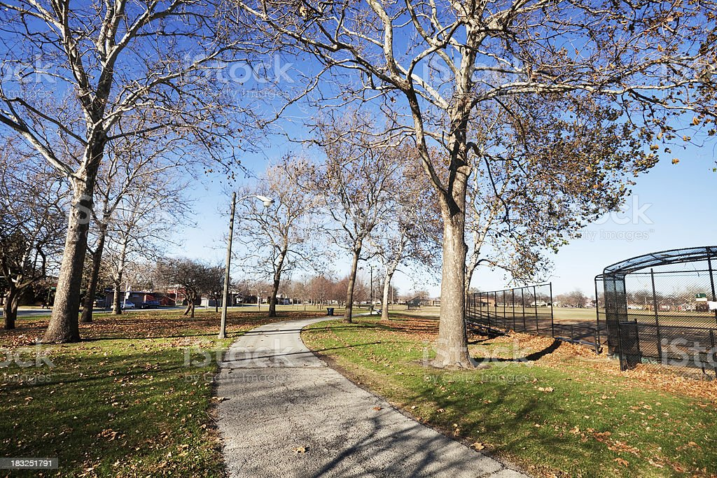 Hayes Park in Ashburn, Chicago royalty-free stock photo