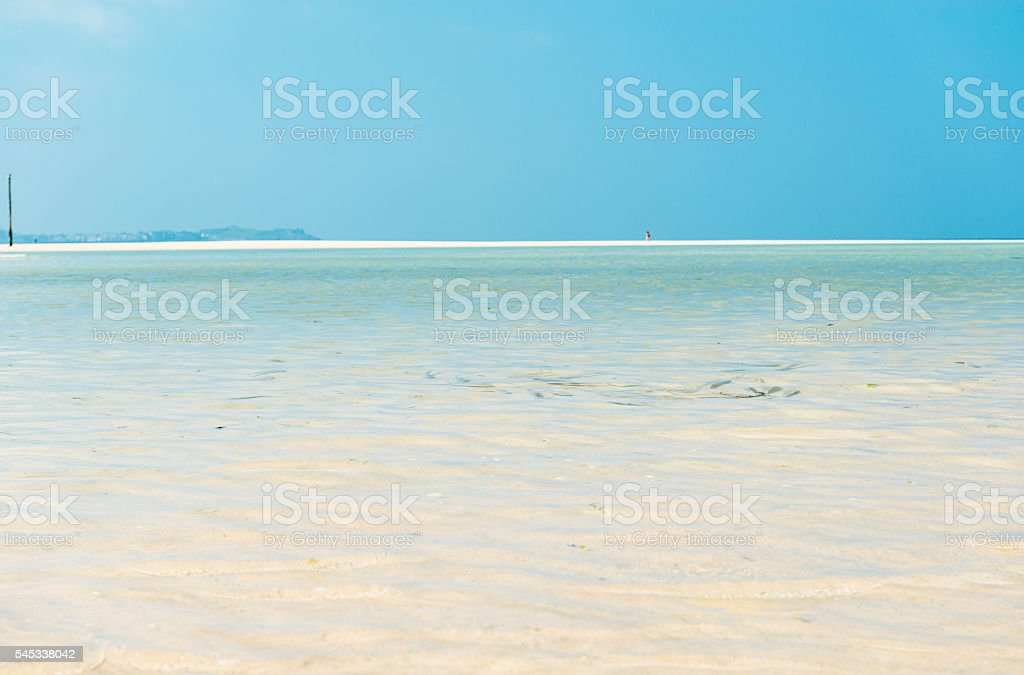 Hayle Beach, views to St. Ives, fish in the water - Royalty-free Beach Stock Photo