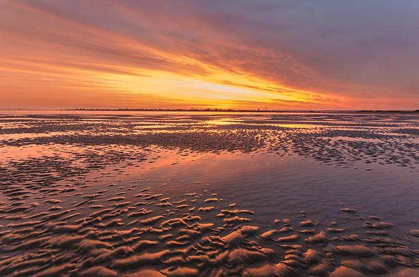 Hayling Island - Sunset stock photo