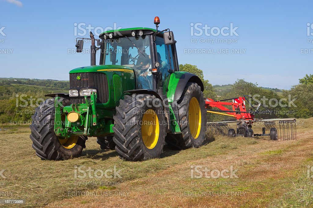 Haymaking in Summer stock photo