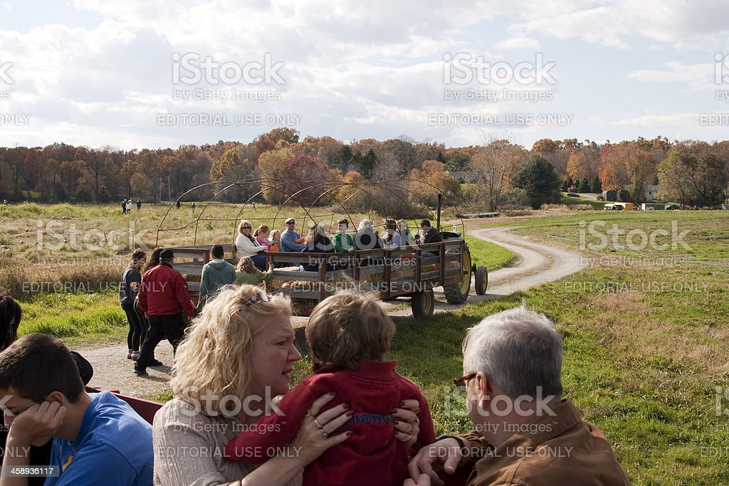 Hayride royalty-free stock photo