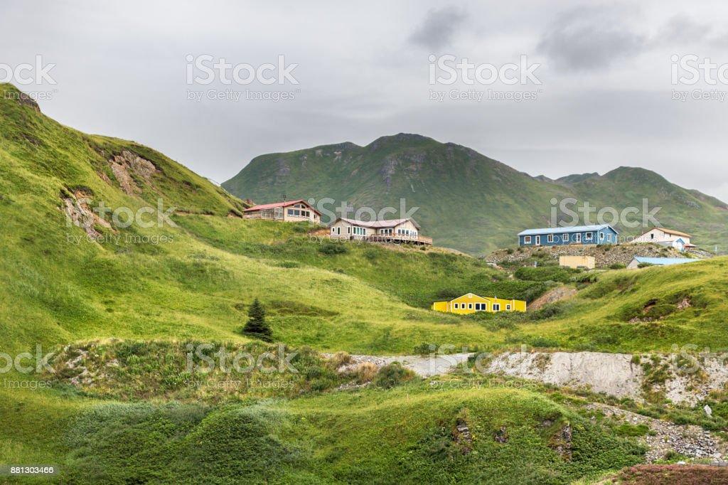 Haystack Hill, Unalaska, Alaska, USA stock photo