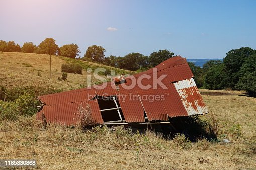 haystack in the countryside