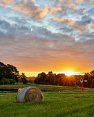 istock A haystack is lit up by a beautiful setting sun near Melbourne, Australia 1126045274