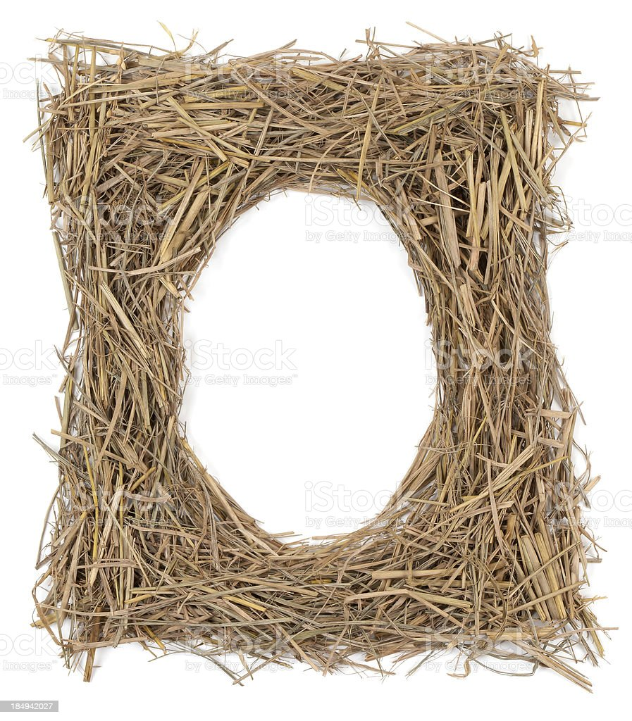 Haystack Picture Frame stock photo