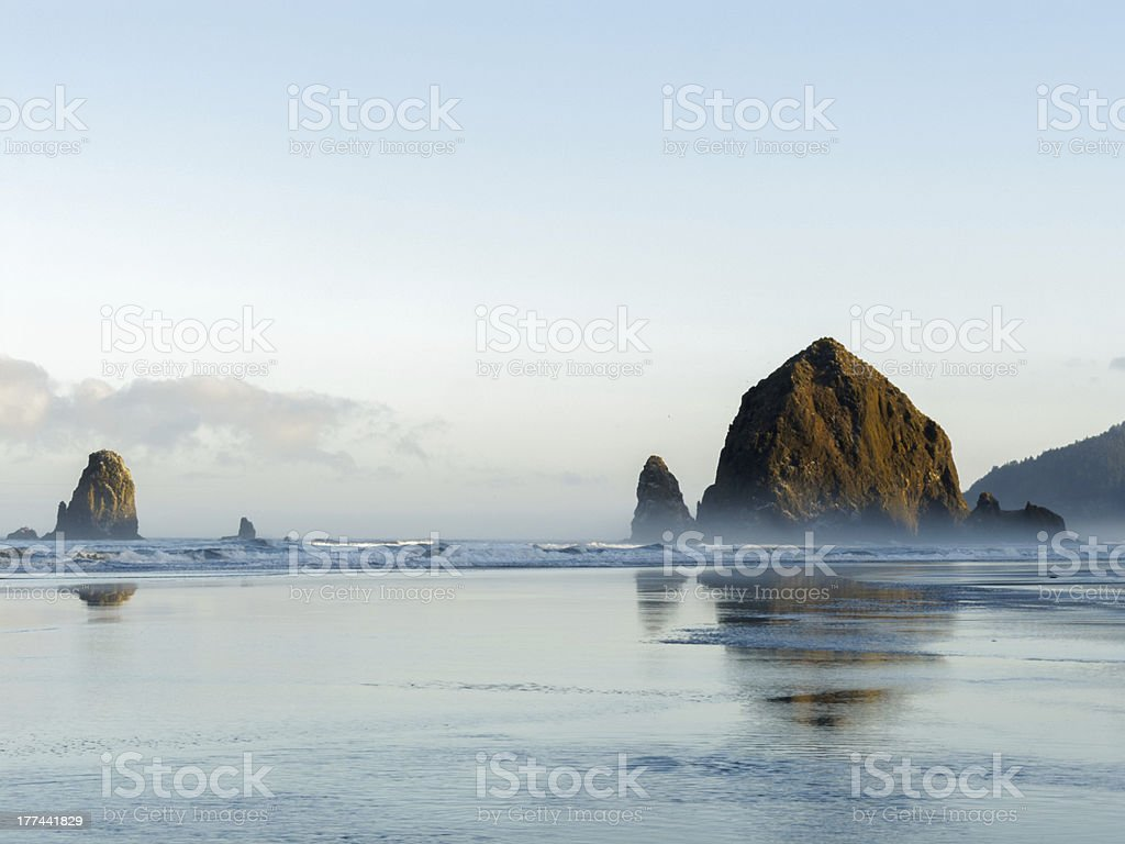 Haystack Rock, Cannon Beach, Oregon stock photo