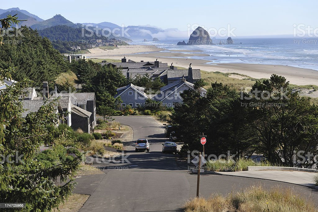 Haystack Rock, Cannon Beach stock photo