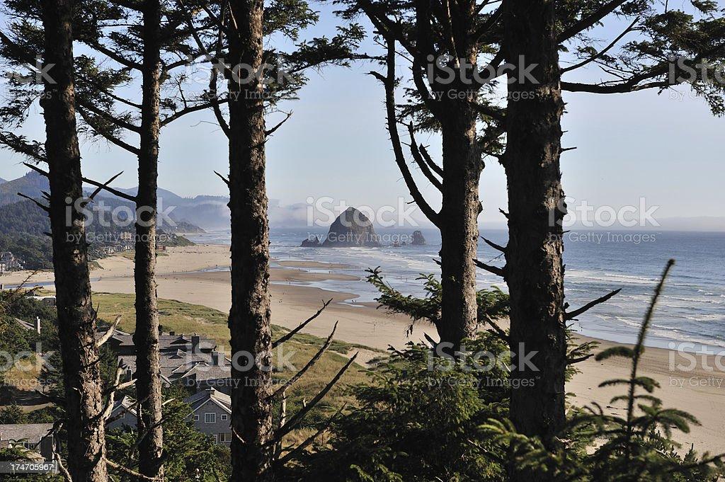 Haystack Rock, Cannon Beach royalty-free stock photo