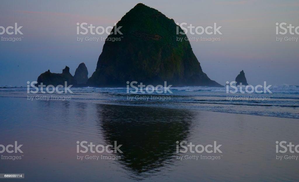Haystack Rock Mystic stock photo