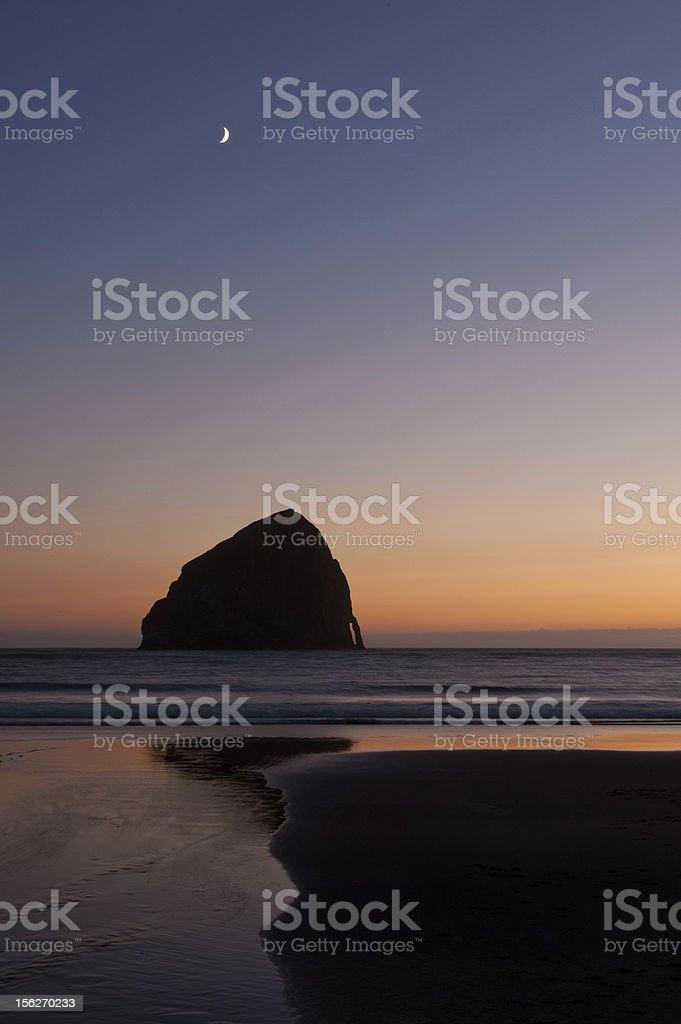 Haystack Rock royalty-free stock photo