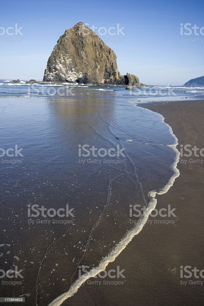 Haystack Rock royalty-free stock photo