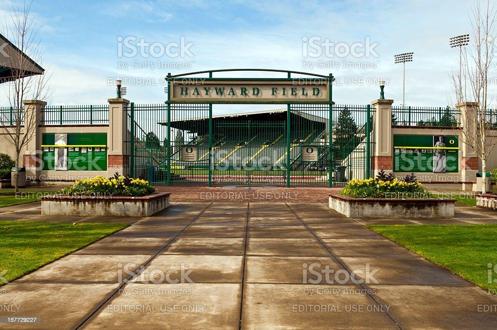 Hayward Field at University of Oregon in Eugene stock photo