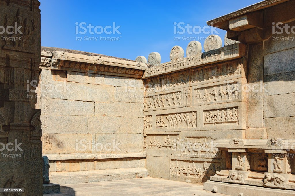 Hazara Rama Temple in Hampi, Karnataka, India stock photo