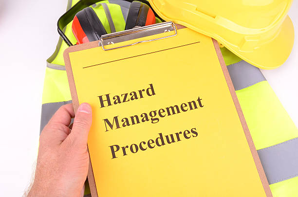 Hazard Management Procedures for the Work Place stock photo
