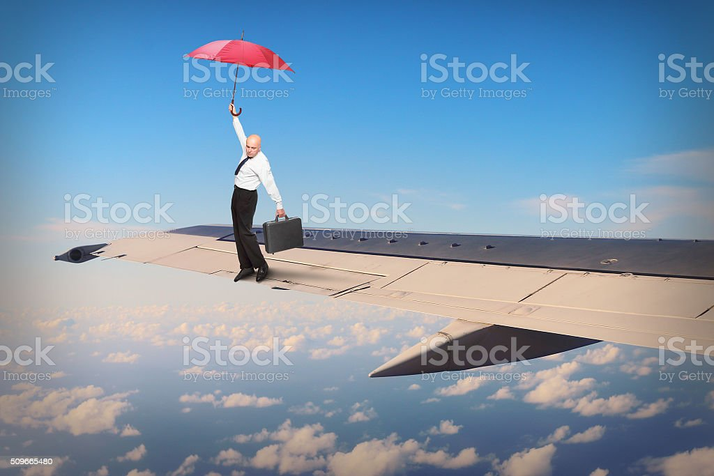 Hazard on the wing. stock photo